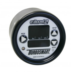 e-Boost2 60PSI 66mm White face/Black bezel
